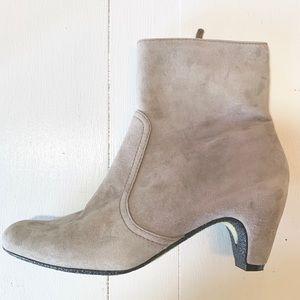 Sam Edelman Maddie Leather Suede Taupe Bootie 7.5M